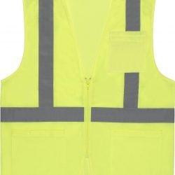 S363P ANSI Class 2 Hi-Viz Economy Vest Mesh w/ Pockets  - Zipper