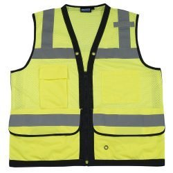 S251 ANSI Class 2 Premium Surveyor Vest w/ Clipboard Pocket