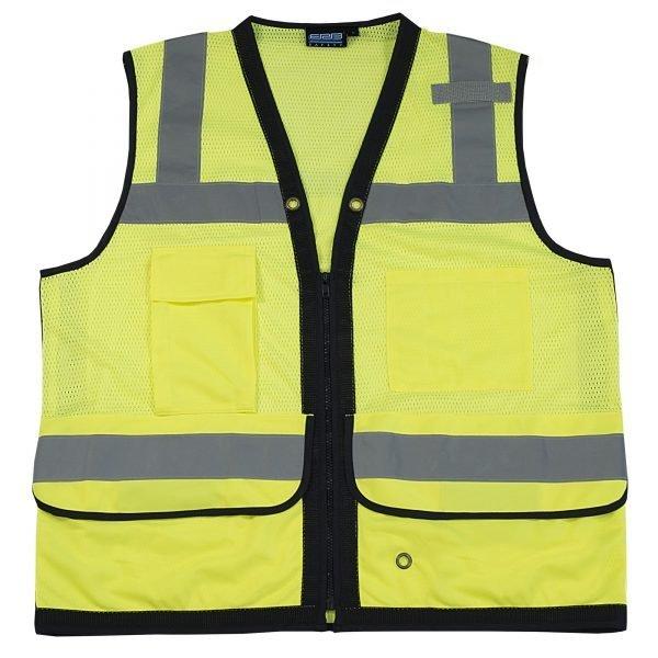 S251 ANSI Class 2 Premium Surveyor Vest w/ Clipboard Pocket