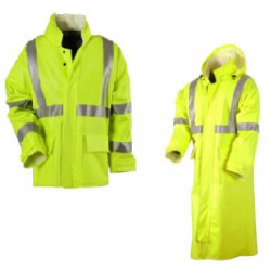 "NSA® Flame Resistant CLASS 2 Rainwear (30"" Jacket or 48"" Duster)"