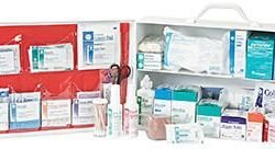 FIRST AID STATION, HART, 2 SHELF, STOCKED