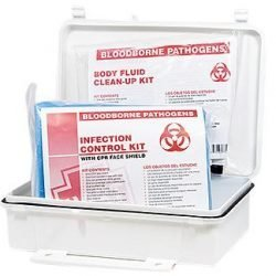 INFECTION CONTROL & CLEAN-UP KIT, HART, POLY BOX